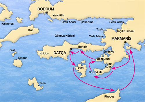Gulet Cabin Charter Cruise in Turkish Coast and Greek Islands